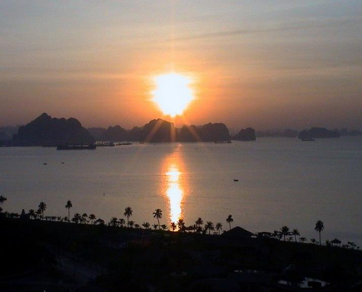 Sunset Halong Bay