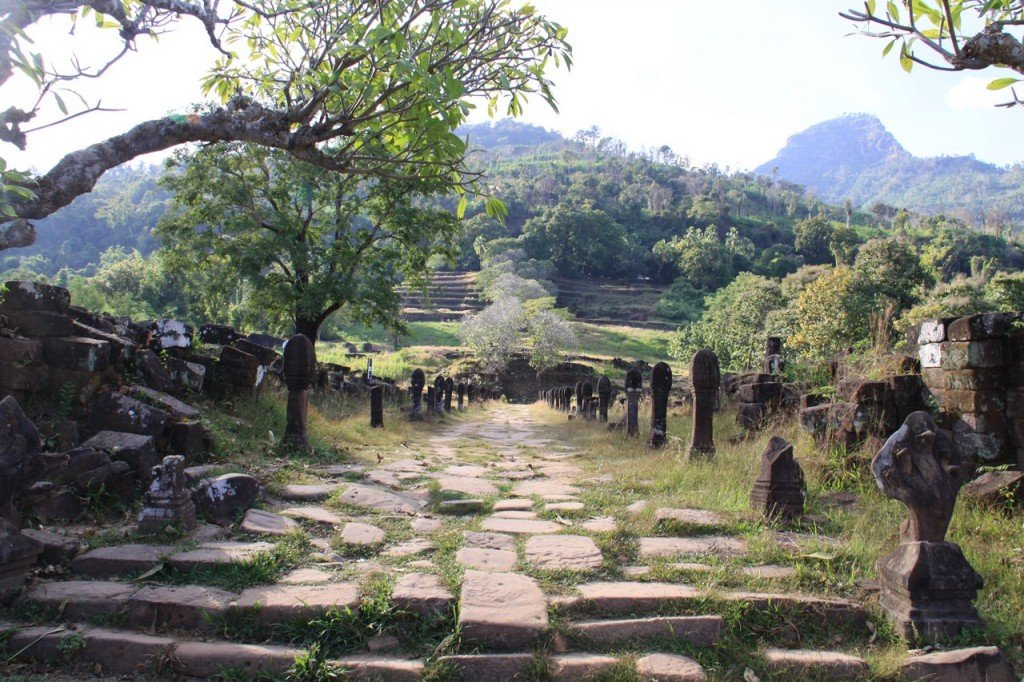 Antico complesso Khmer Wat Phu